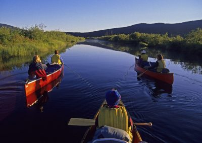 canoeing on Bowron River